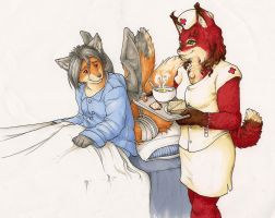 I Bring Soup and Sandwiches by Red-Lynx