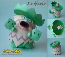 Ludicolo Papercraft by Olber-Correa