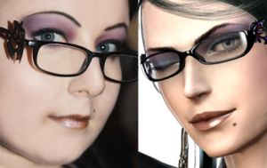 Bayonetta - Quick make up test by Lil-Miss-Macabre