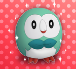 Morty the Baby Rowlet by EbonyShroud