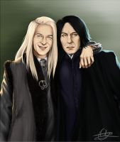 Lucius Malfoy and Severus Snape [Commission] by Bakuhatsu-Dei