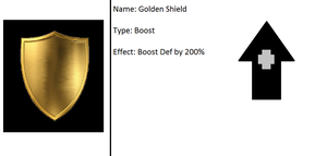 RPG Card Item (Golden Shield) by serpenna