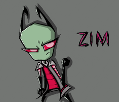 Zim With A Cape-Thing by PeachyCreek