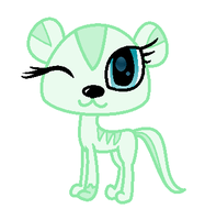 LPS OC- Minty the otter by LittleSnowyOwl