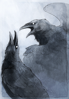 Huginn and Muninn by Woari