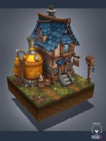 Medieval brewery by AntonioNeves