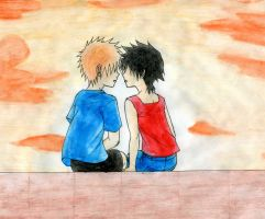 Kids Ichigo and Tatsuki by BloodLilium