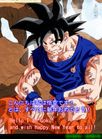 Son Goku say: Happy New Year 2013! by IITheDarkness94II
