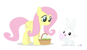 Fluttershy in 'Angel found an Egg!' by dm29