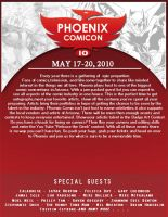 Phoenix Comicon flyer by MrGacey