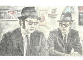 The Blues Brothers by BlackMeow
