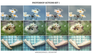 Photoshop Actions Set 1 by wandadomingo