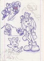 :. Sonic Unleashed Doodles .: by PhoenixSAlover
