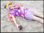 (Spyro) Relaxing at Summer Beach Cosplay by KrazyKari