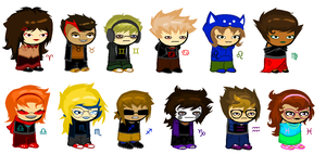 Humanstuck Sprites by sleuthingLicorice