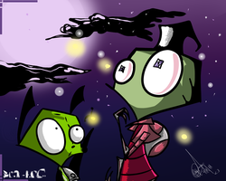 Zim and Gir. by urdeadlysmile