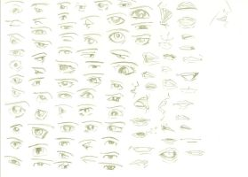 Eyes and mouths by Tigreperro