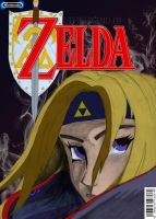 Legend of Zelda mock comic book cover by Elektrafying