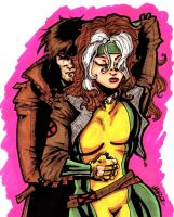 gambit and rogue by Rottinggiant