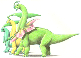 Meganium Evoulutionary Line by altered-worlds