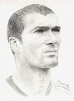 Zidane, French Soccer Player by AnnieGurl86