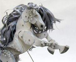 Moonlight DappledGrey Articulated Horse by Ribena-Warrior