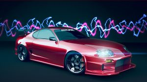 Toyota_Supra in colours by midoo55