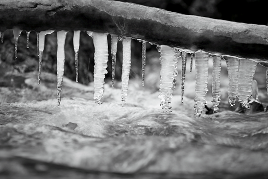 Icicles Over Creek by DBoydPhotography