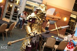 Dragonslayer Ornstein Cosplay: Naka Kon 2013 by Virus-91