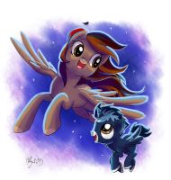 Lightning Star and Blue Dust by Adlynh