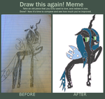 Draw it again- Queen Chrysalis by MonstrousPegasister