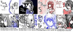 Rose Magic Chapter Covers Hatena 2012-2013 by ChibiRoseChan