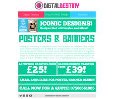 Poster-Banner Design Page Redesign by DigitallyDestined