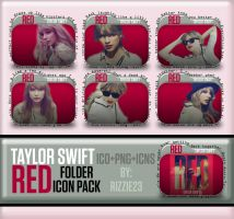 Taylor Swift Red Folder Icon Pack by Rizzie23