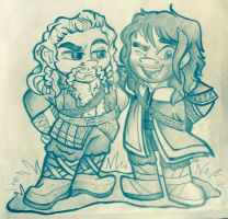 Middle-Earth: Fili and Kili by Alexbee1236