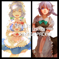 [Toho Project]Sakuya render pack # 1 by Maoyuu-maou