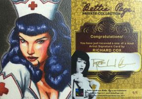 Bettie Page Signature Card by RichardCox