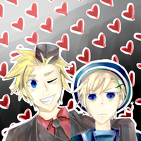 DenNor with lots of hearts by Emaperatriz