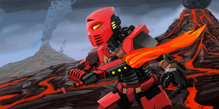 Tahu: The Toa of Fire by cris1138