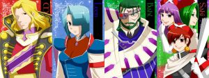 Characters of Grandia first 3 by mievol3333