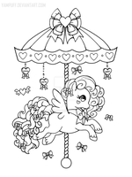 Valentine Gift Carousel Pony ::Open Lineart:: by YamPuff