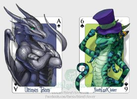 Ultimus Telum and SixthLeafClover Playing Cards by The-SixthLeafClover