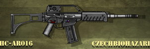 Fictional Firearm: HC-016 Assault Rifle by CzechBiohazard