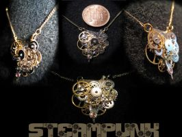 Steampunk Necklace by Argendriel