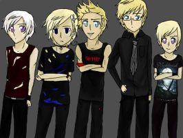 Punk!Nordics by FairyTailForever123