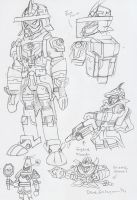 Commish: Eddarion Backdraft Mode concept by BlueIke