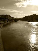 Light bathed river by Elorine