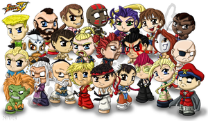 Street Fighter 4 by louisalulu