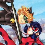 Miraculous Ladybug Cat Noir by AimiisLoveBeautiful