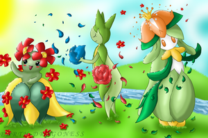 Summer Dance of Flowers by LadyEarthDragoness
